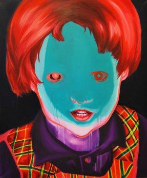 """Bowlhead""130x110 oil paint 2015"