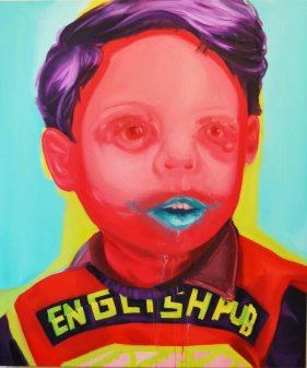 """English pub"" 130x110 oil paint 2015"