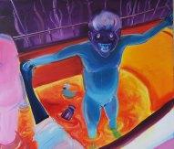 """""""Rubber duck""""140x160 oil paint 2014"""