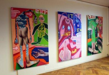 """Group exhibition """"Upload"""" at underground, Antwerp,Belgium"""